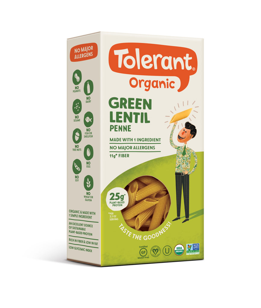 Product Review: Tolerant Organic Green Lentil Penne